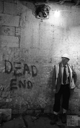 Dead End. Standing next to some graffiti on the site of Thermae Bath Spa 2000