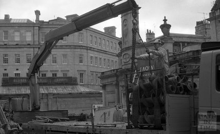 Arrival of small core drill, Thermae Bath Spa 8 February 2001