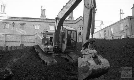 Digger at Thermae Bath Spa, 16 February 2001