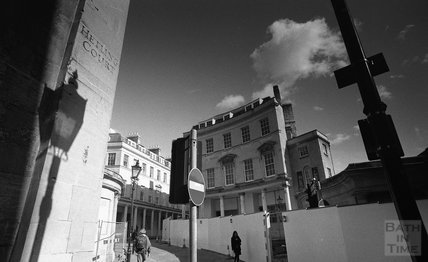 View of the site of Thermae Bath Spa from Hetling Court. 2000