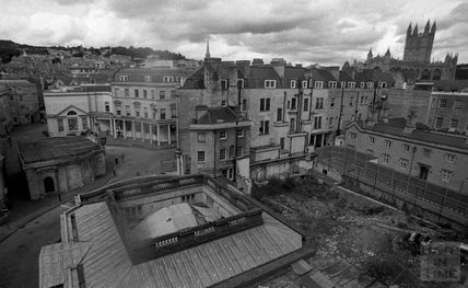 The cleared site of in Beau Street of the Thermae Bath Spa 2000