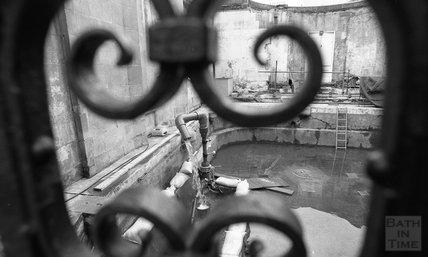 Spying the Cross Bath through the ironwork, 8 December, 2000