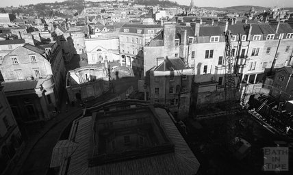 Looking down on the Thermae Bath Spa construction site, 24 January 2001