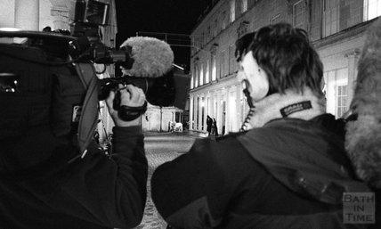 Filming Darwin on Bath Street, 15 December 2000