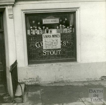 The window of the Larkhall Inn, December 1956