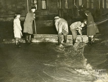 Floods in Larkhall, 1956