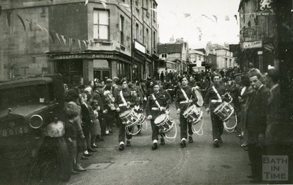 Parade in Larkhall, 1950s