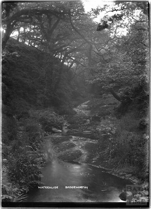 Waterslide, Badgworthy, near Lynton, Exmoor, Devon, c.1920s