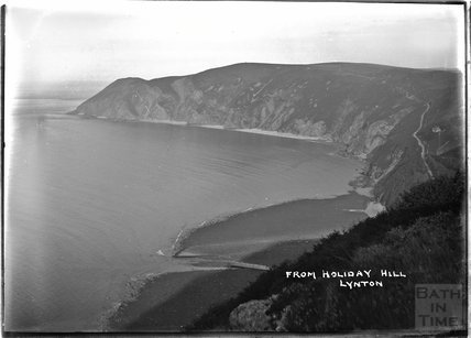 Coastal view from Holiday Hill, Lynton, Lynmouth, Exmoor, Devon, c.1930s