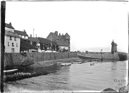 The seafront at Lynmouth, Exmoor, Devon, c.1930s