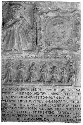 Tomb of Judith Ivye, St Mary the Virgin, West Kington, c.1920s