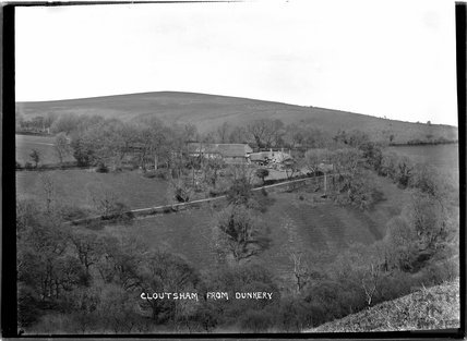 View of Cloutsham Farm from Dunkery, near Minehead, Somerset, c.1909