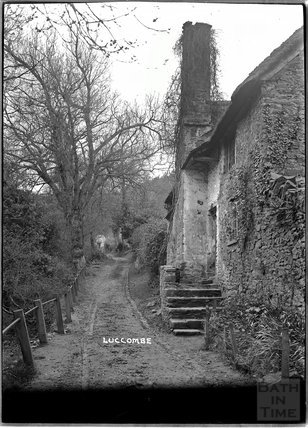 Rural cottage at Luccombe, near Minehead, Somerset, c.1920s