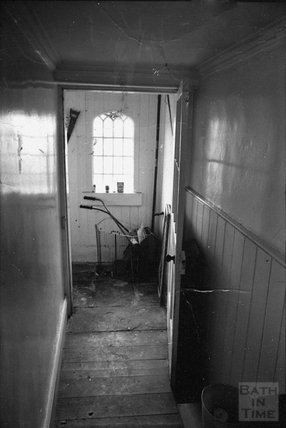 The back passage, ground floor of 12 Darlington Place, 1975