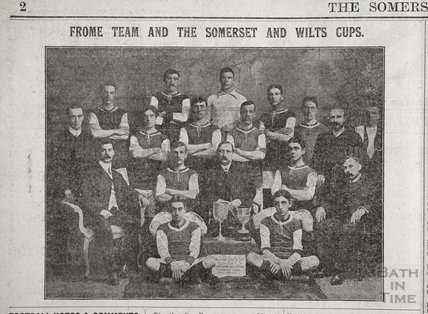 Frome football team and the Somerset and Wiltshire cups, 1911