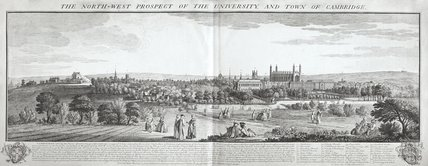 The North West Prospect of the University and Town of Cambridge 1743
