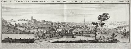 The South West Prospect of Birmingham in the County of Warwick 1731