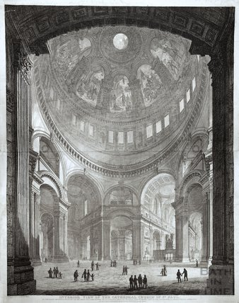Interior View of the Cathedral Church of St. Paul 1817