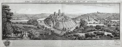 The South West Prospect of the City of Durham 1745