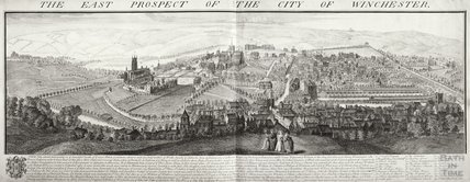 Buck's The East Prospect of the City of Winchester 1736