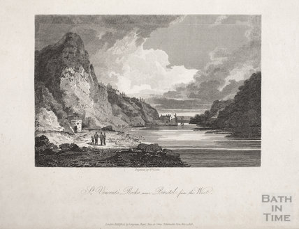 St Vincent's Rocks near Bristol from the West, 1808