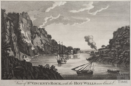 View of St Vincent's Rock with the Hotwells, near Bristol, c.1790
