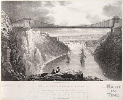 The Clifton Suspension Bridge, Bristol , c.1829