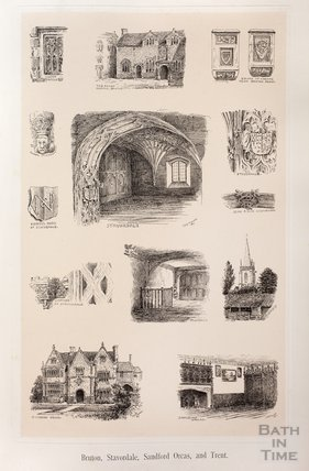 Sketches from Bruton, Stavordale, Sandford Orcas and Trent c.1890s