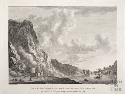 View of the Rock House at Bristol Wells taken from the foot of St Vincent's Rock, Bristol 1780