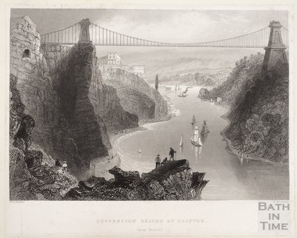 Suspension Bridge at Clifton (near Bristol), 1842