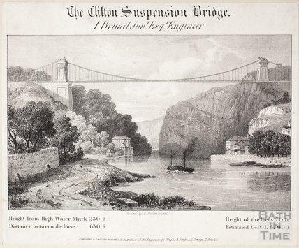 The Clifton Suspension Bridge, Bristol, I Brunel Junr Esq. Engineer, c.1830