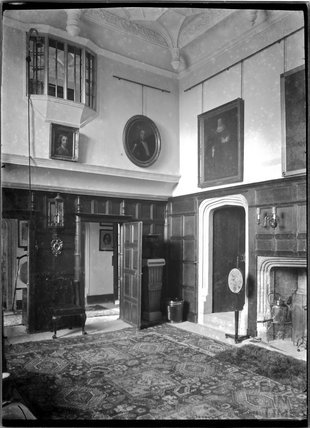 Inside Poundisford Park, near Pitminster, Somerset c.1920s