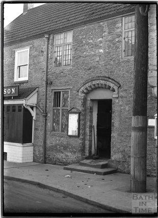 Unidentified doorway, possibly Milborne Port, Somerset c.1910