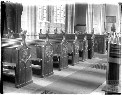 Carved Benchends, St Michael's Church, North Cadbury, Somerset c.1910