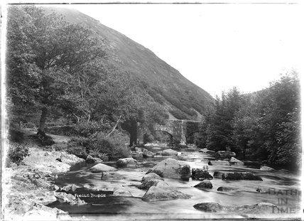 Fingle Bridge, Dartmoor, Devon 1906