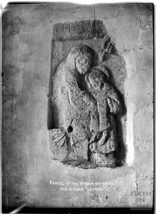 Panel of the Virgin and Child, Inglesham Church of St John the Baptist, Swindon, Wiltshire, c.1910