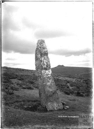 Gidleigh Longstone, Dartmoor, Devon 1906