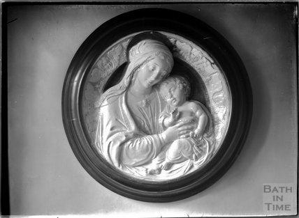 Plasterwork inside Poundisford Park, near Pitminster, Somerset c.1920s