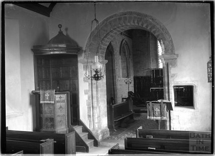 Archway inside Holy Trinity Church, Sutton Montis, South Cadbury, Somerset c.1910