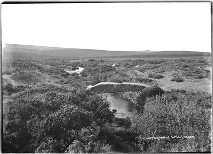 Clapper Bridge, Walla Brook, Dartmoor, Devon 1906