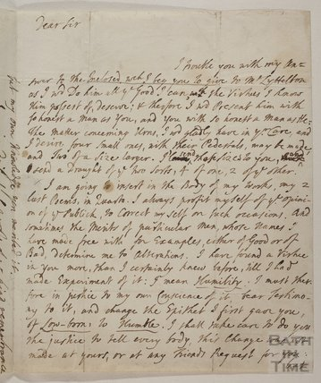 Letter from Alexandar Pope to Ralph Allen c.1738