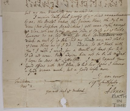 Letter from Alexandar Pope to Ralph Allen c.1738
