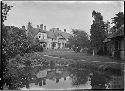 Holnicote House and pond, Allerford, Somerset c.1920s
