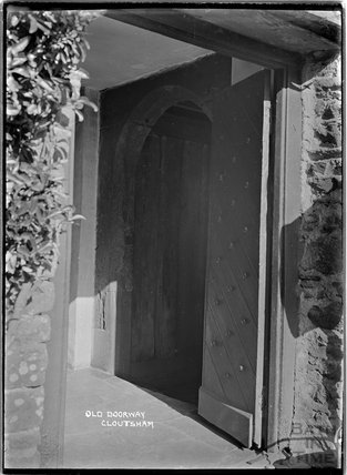 Old Doorway, Cloutsham Farm, near Minehead, Somerset, 1909