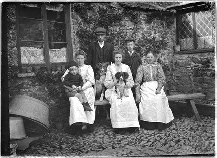 Group Portrait, Cloutsham Farm, near Minehead, Somerset, 1909