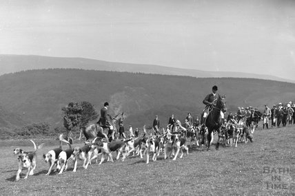 Devon and Somerset staghounds, Opening Meet, Cloutsham, near Minehead 1909 - detail