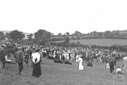 Opening Meet, Cloutsham, near Minehead, Somerset 1909 - detail