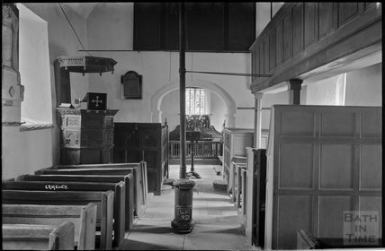 Inside Church of St James, Camely, Somerset c.1930s