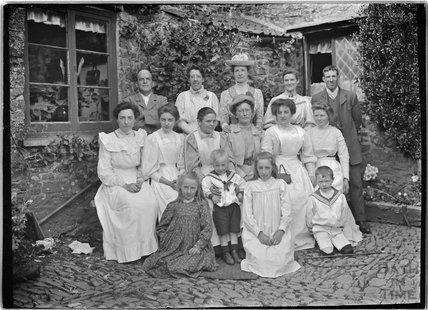 Group Portrait, Cloutsham Farm, near Minehead, Somerset, 1909