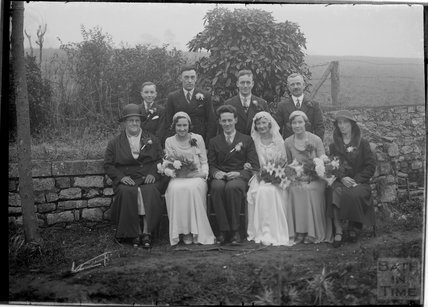 Unidentified Wedding group portrait, c.1930s